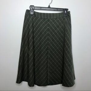 The Limited Gray Plaid Skirt